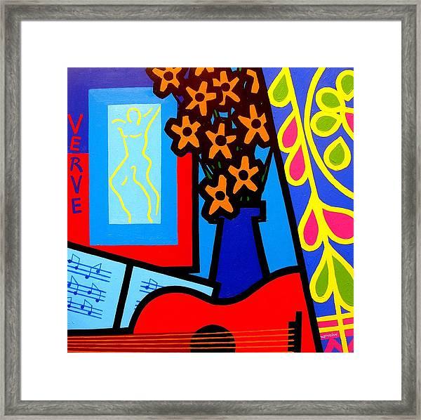 Still Life With Henri Matisse's Verve Framed Print