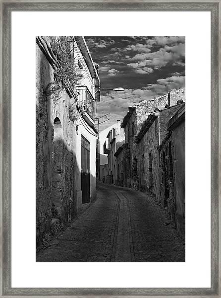 Street Little Town Framed Print
