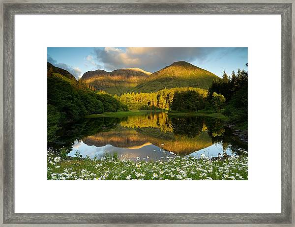 Summer Reflections In Glencoe Framed Print