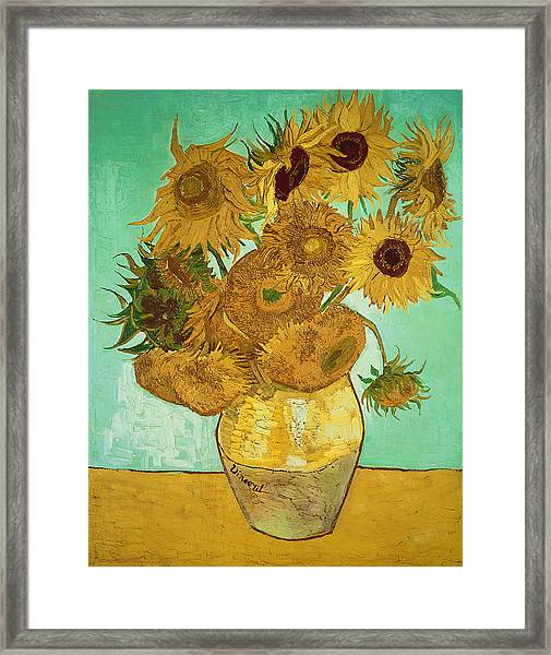 Sunflowers By Van Gogh Framed Print