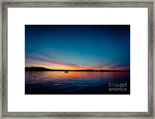 Framed Print featuring the photograph Sunrise Above Lake Water Summer Time Latvia Ezera Skanas by Raimond Klavins