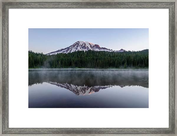 The Reflection Lake Framed Print