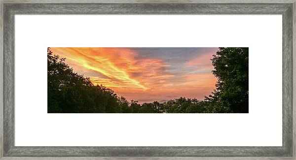 Framed Print featuring the photograph Sunrise July 22 2015 by D K Wall