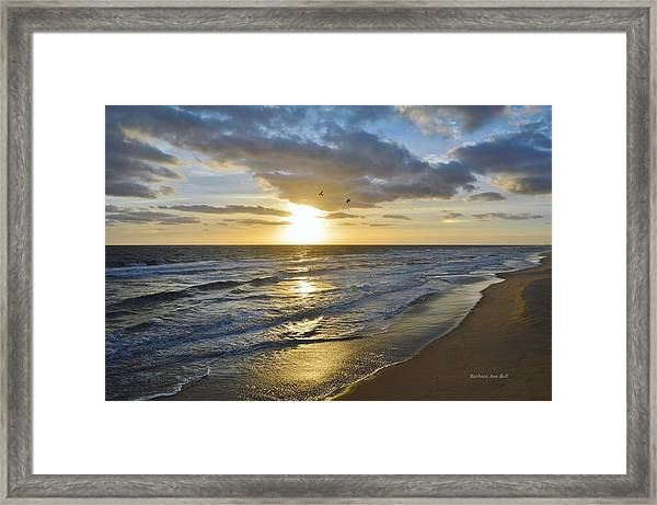 Sunrise On The Banks  Framed Print