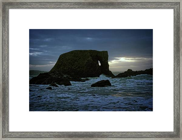 Sunset At Elephant Rock Framed Print