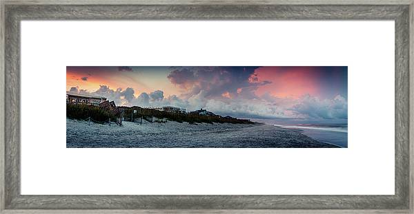 Sunset Emerald Isle Crystal Coast Framed Print