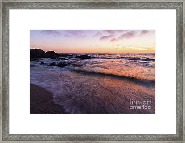 Sunset Over Laguna Beach   Framed Print