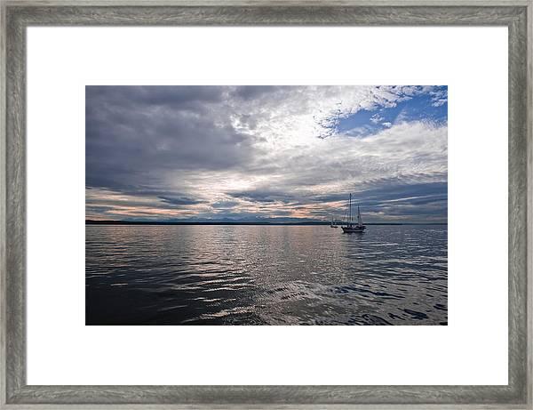 Sunset Sail Framed Print by Tom Dowd