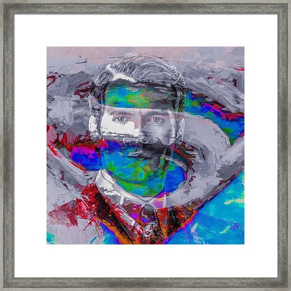 #superman #supermanvsbatman Framed Print