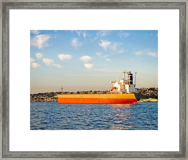 Supertanker Framed Print by Tom Dowd