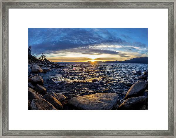 Tahoe Sunset Framed Print