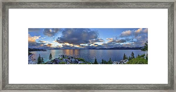 Tahoe Sunset Panorama Framed Print