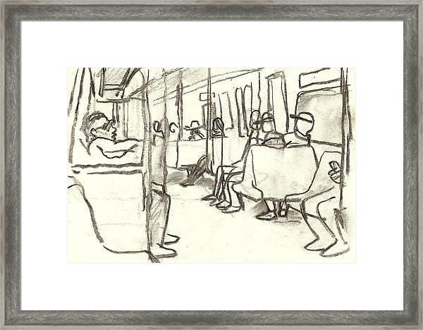 Take The A Train, Nyc Framed Print