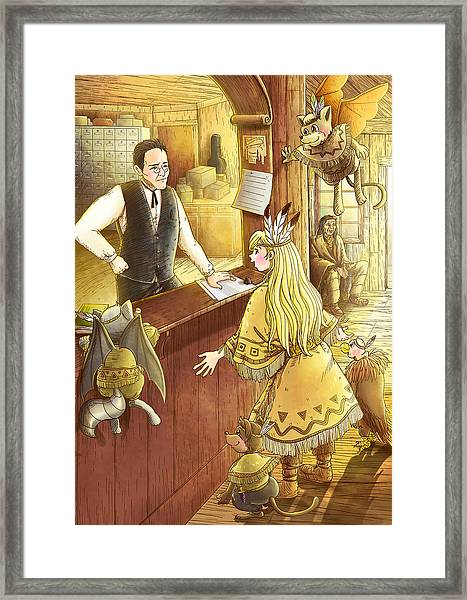 Tammy And The Postmaster Framed Print