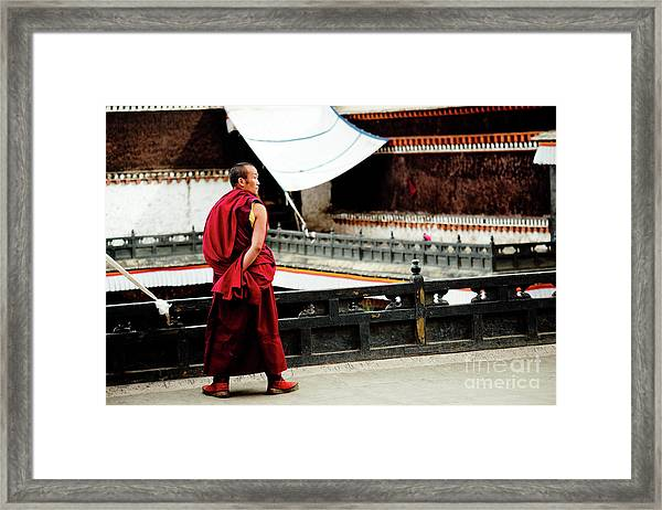 Tashilhunpo Monastery Shigatse Tibet Yantra.lv  Framed Print