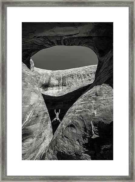 Teardrop Arch Framed Print