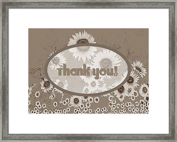 Thank You Card Daisies Framed Print
