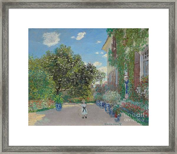 The Artist's House At Argenteuil Framed Print