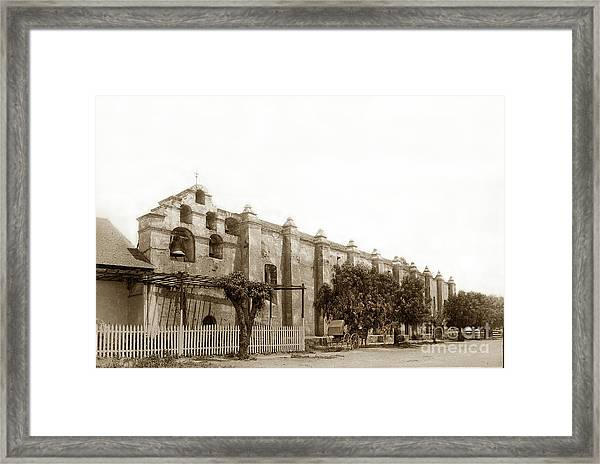 The Campanario, Or Bell Tower Of San Gabriel Mission Circa 1890 Framed Print