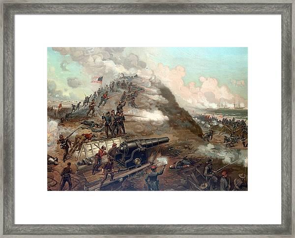 The Capture Of Fort Fisher Framed Print