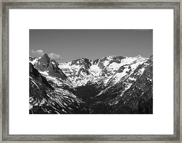 The Crater Framed Print