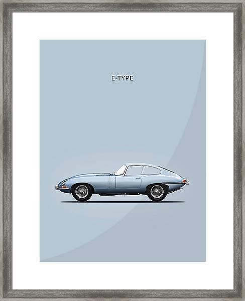 The E Type Framed Print