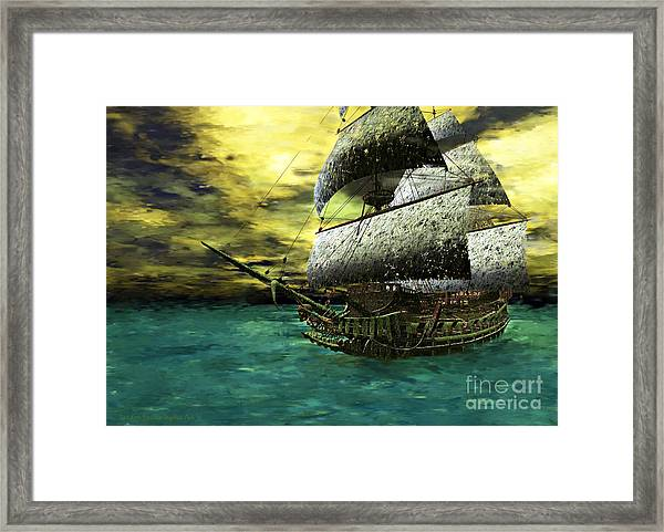 The Flying Dutchman Framed Print by Sandra Bauser Digital Art