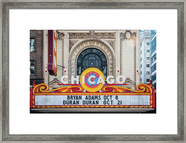 The Iconic Chicago Theater Sign Framed Print