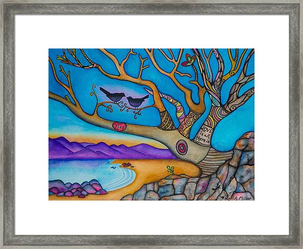 The Kiss And Love Is All There Is Framed Print