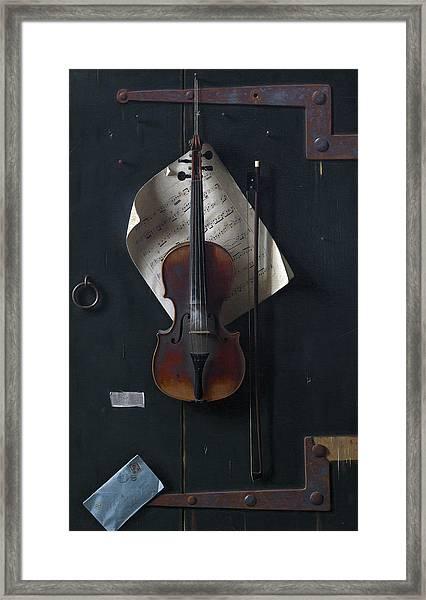 The Old Violin Framed Print