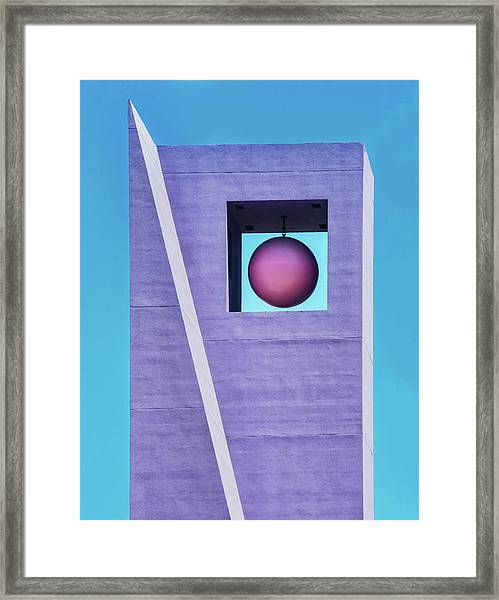 The Purple Tower At Pershing Square Framed Print