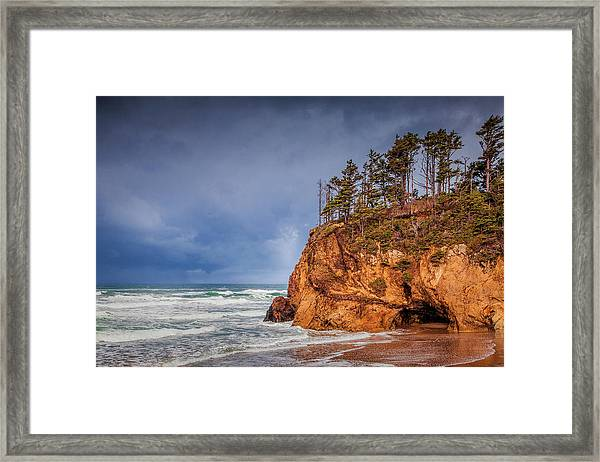 The Remote Coast Framed Print by Andrew Soundarajan