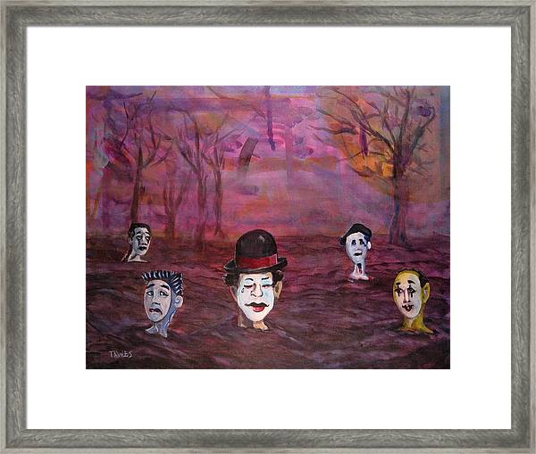 The Silence Of The Mimefield Framed Print