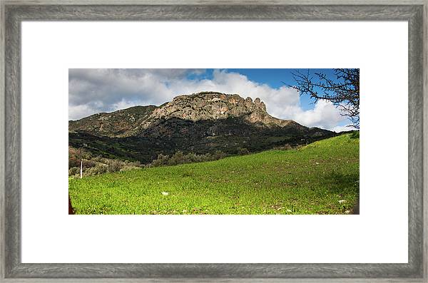The Three Finger Mountain Framed Print