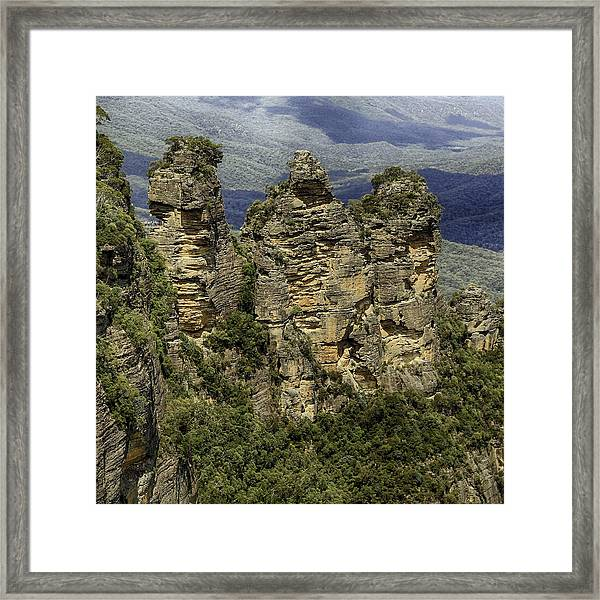 Framed Print featuring the photograph The Three Sisters by Chris Cousins