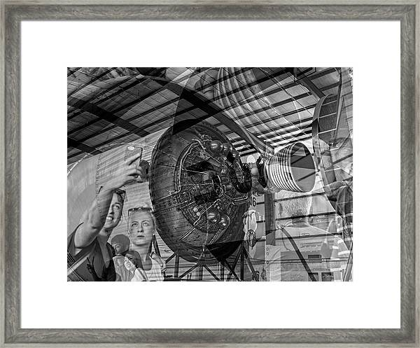 The Tourists - Houston Space Center Nasa Framed Print