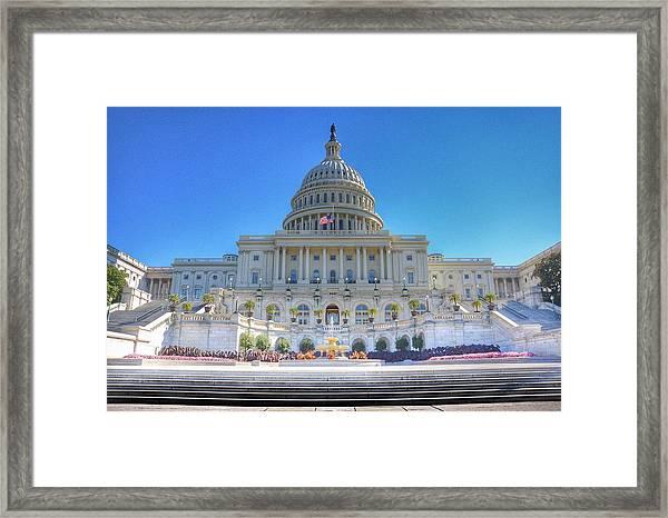The Us Capitol Building - Washington D.c. Framed Print