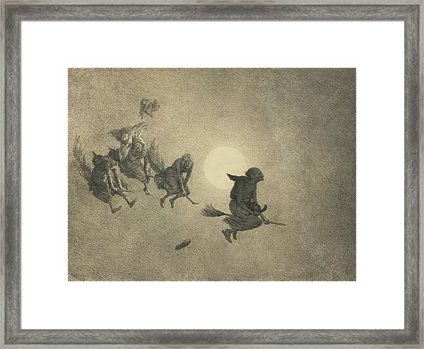 The Witches' Ride Framed Print