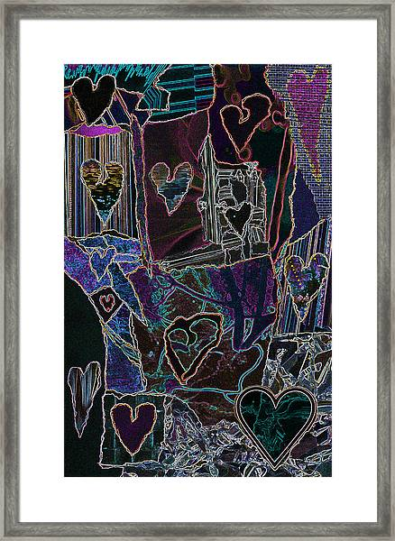 Thought Of Love Framed Print
