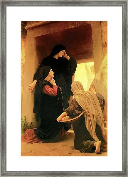Three Marys At The Tomb Framed Print