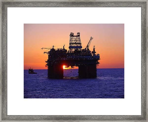 Thunder Horse At Sunset Framed Print