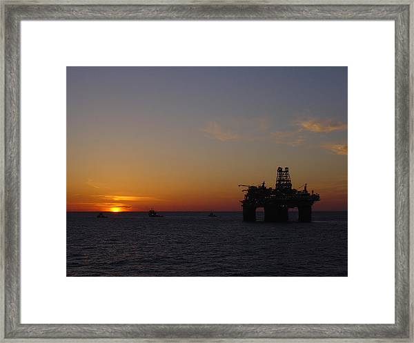 Thunder Horse Tow Out Framed Print