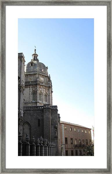 Toledo Cathedral In Sight Framed Print