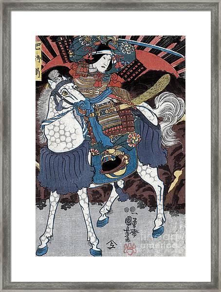 Tomoe Gozen, Female Samurai Warrior Framed Print