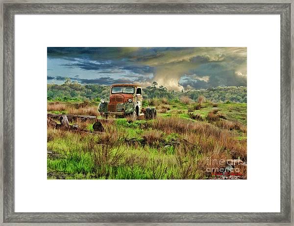 Tornado Truck Framed Print