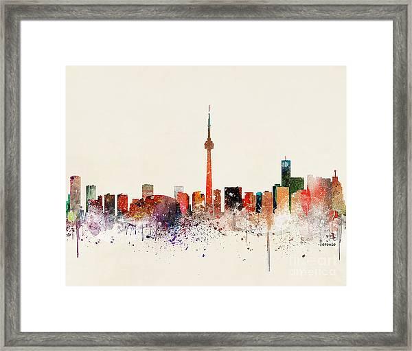 Toronto Skyline Framed Print by Bri Buckley