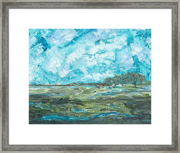 Toward Pinckney Island Framed Print