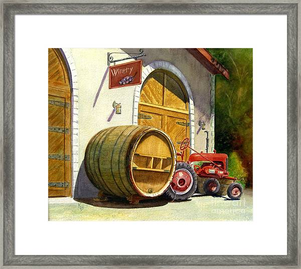 Tractor Pull Framed Print
