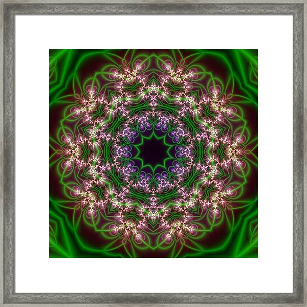 Framed Print featuring the digital art Transition Flower 10 Beats by Robert Thalmeier