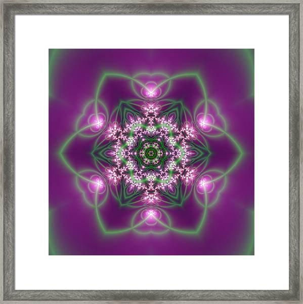 Framed Print featuring the digital art Transition Flower 6 Beats 3 by Robert Thalmeier